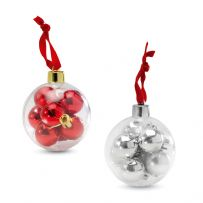 Pack of Eight Mini Baubles
